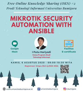 MikroTik RouterOS Security Automation With Ansible